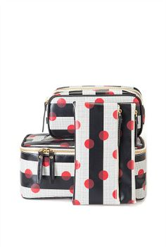 Spot Grid Medium Cosmetic Bag