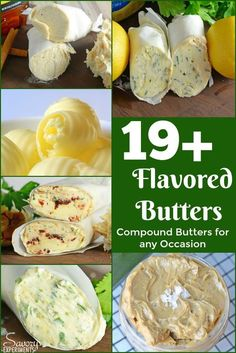 Creating flavored butter adds sophistication to any meal. Skip the plain old butter and opt for a compound butter. Perfect for steak, potatoes and more! Flavored Butter, Homemade Butter, Butter Recipe, Butter Cheese, Herb Butter, Compound Butter, Steak Butter, Butter Spread, Queso