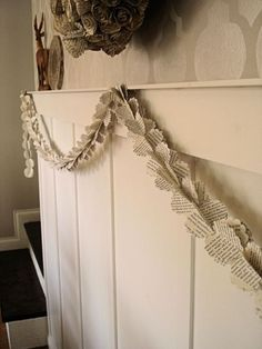 Almost Free Craft: The Book Page Garland