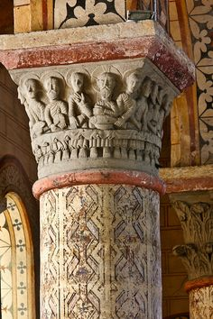 Last Supper capital, Église Saint-Julien de Chauriat, Chauriat (Puy-de-Dôme)