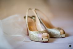 Gold sparkle shoes {Photo by Bustle & Twine}
