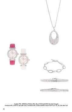Klokke hvit eller rosa. Langt smykke og armbånd / ring. Ta gjerne kontakt om du ønsker noe mob. 90918076