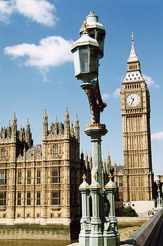 Clock Tower from Westminster Bridge by UK Parliament
