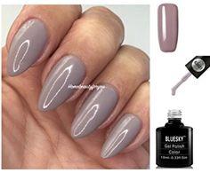 Bluesky 63921 Taupe Beige Grey - Nail Gel Polish UV LED Soak Off Gel 10ml - PLUS 2 LuvliNail Shine Wipes