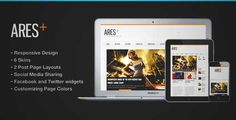 Download and review of Ares Blog Magazine Newspaper Template, one of the best Themeforest Magazine & Blogs themes