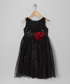 Take a look at this Black Sequin A-Line Dress - Toddler & Girls by Kid's Dream on #zulily today!