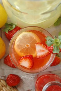 Simply Suzanne's AT HOME: fresh strawberry lemonade