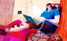 Editorial Illustrations 2014 by Nata Metlukh, via Behance