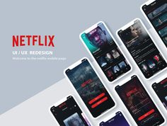 Behance is the world's largest creative network for showcasing and discovering creative work Mobile Web Design, App Ui Design, Interface Design, Netflix App, Interactive Design, Portfolio Design, Iphone, Gallery, Behance