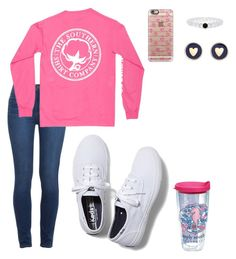 Happy Birthday @margaretinmotion !!! by harpgirl913 on Polyvore featuring polyvore, moda, style, Paige Denim, Keds, Brooks Brothers, Casetify and Tervis