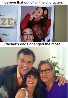 i believe out of all the characters, rachel's dads have changed the most. #glee