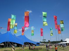 Outdoor Flags at Womad Festival