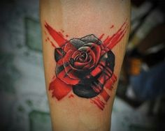 Rose with red x