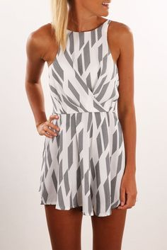 Opal Playsuit White