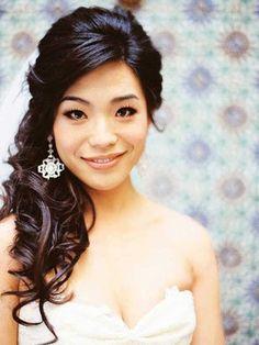 12.Braut-Haar Hälfte Bis