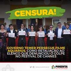 Por Dentro... em Rosa: Tristes dias estes onde impera a censura e a democ...