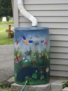 tambor para juntar agua de lluvia para regar