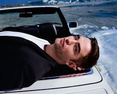 New Robert Pattinson picture from Dior Tumblr - on top of a car