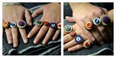 Rings made of buttons