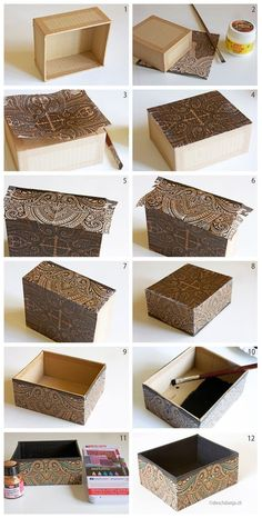 How to decorate a cardboard box with napkin technique www.ch How to decorate a cardboard box with napkin technique www.ch The post How to decorate a cardboard box with napkin technique www.ch appeared first on Paper Diy. Cardboard Furniture, Cardboard Crafts, Cardboard Playhouse, Diy With Cardboard Boxes, Cardboard Box Storage, Crafts To Do, Home Crafts, Carton Diy, Diy Karton