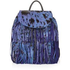 TOPSHOP Premium Leopard Pony Backpack