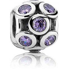 Charm Cercles Scintillants Ajourés Violet Pandora - 791153ACZ