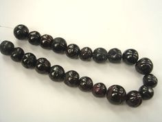 Garnet Smooth Round (Quality D) / 11.5 to 15 mm / 26 cm / 494.35 carats / 22 pieces / ST-3216 by beadsofgemstone on Etsy