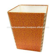 handmade paper dustbins made in marlbled paper for home stores, gift stores, View handmade paper dustbin, conifer Product Details from RAVI EXPORTS on Alibaba.com