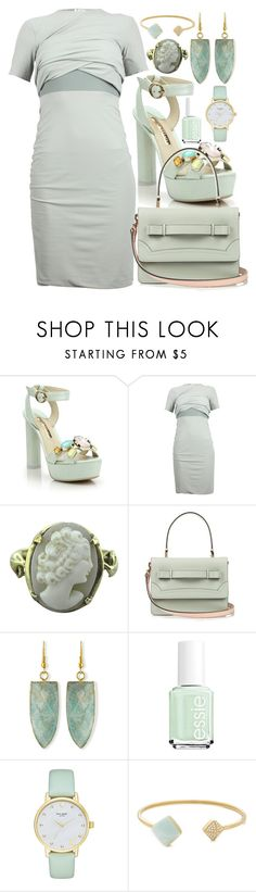 """""""bright"""" by business-casual ❤ liked on Polyvore featuring Sophia Webster, RED Valentino, Panacea, Essie, Kate Spade, Michael Kors, WOW, chic, dress and bright"""