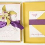 Boxed invitation--Pomtiki Pinwheel Invitation