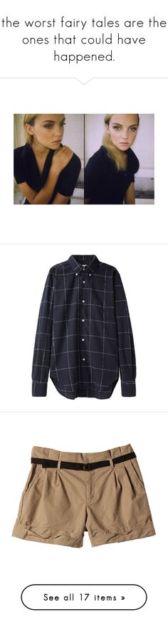 """""""the worst fairy tales are the ones that could have happened."""" by thatsstellar ❤ liked on Polyvore featuring men's fashion, men's clothing, men's shirts, men's casual shirts, tops, shirts, flannels, blouses, mens long sleeve shirts and mens straight hem shirts"""