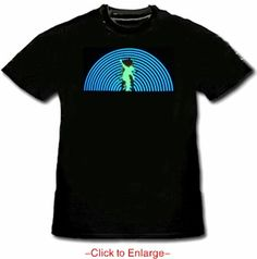 Rock Da House Sound Responsive Dancing Raver T-Shirt. This is the newest and hottest trend in club raver gear. With the combination of micro lighting technology in to this special clothing You are now the lightshow! This interactive 4D Equalizer shirts goes beyond the tradition of hand held club toys. Price $24.99