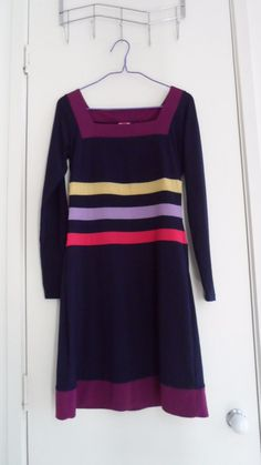 Gorgeous Leona Edmiston Navy Blue Striped Dress Size XS in Clothing, Shoes, Accessories, Women's Clothing, Dresses | eBay