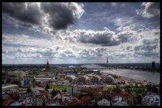 Mākoņi virs Rīgas.