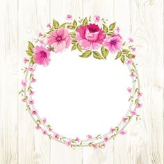 Brian and Jackie Lyn Border Design, Pattern Design, Design Floral, Decoupage Paper, Floral Border, Flower Frame, Watercolor Flowers, Diy And Crafts, Floral Wreath