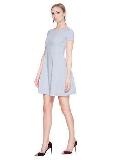Rozkloszowana sukienka SL2165G www.fajne-sukienki.pl Dresses For Work, Fashion, Moda, Fashion Styles, Fashion Illustrations