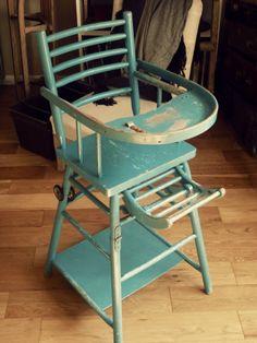 Chaise haute enfant vintage  http://www.leboncoin.fr/annonces/offres/bretagne/?f=a&th=1&q=antiquaillerie