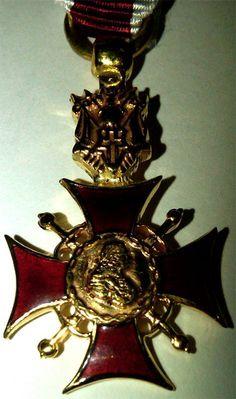 Miniatura Cruz de Caballero Comendador de Justicia, del Capítulo Noble de Caballeros de la Orden de Fernando VI.