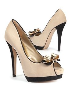 Goldie Bow Peep Toe Shoes