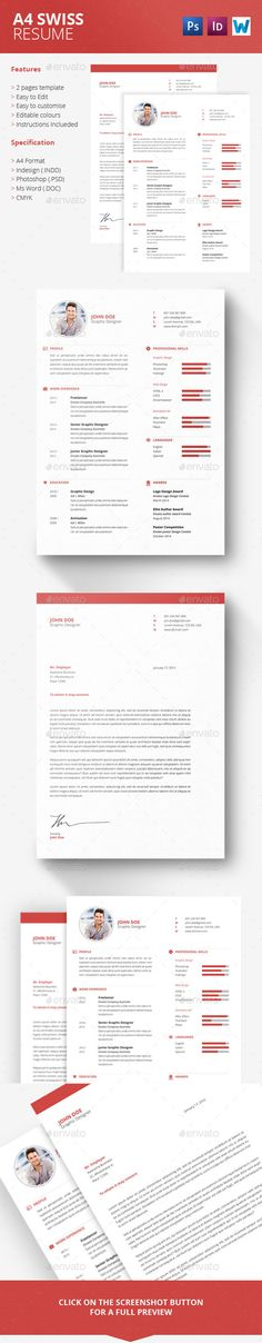 Curriculum Vitae Template- CV Template - Cover Letter - MS Word Mac - resume templates word mac