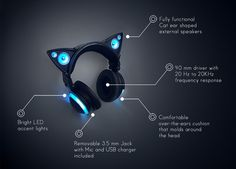 Axent Wear Cat Ear Headphones.   8 Insanely Cool New Gadgets You Can Get On Crowdfunding