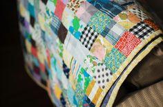 scrap quilt...it reminds me of my grandma
