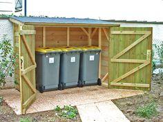 abri poubelles, sur devis livré installé par: jardinpiscine.com