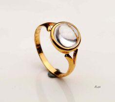 1960 Vintage European Ring solid 18K Gold by AtelierDeMontplaisir