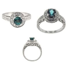 Blue Tourmaline & Diamond Ring only at Coastal Jewelers in Kennebunkport Maine or Online!