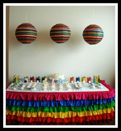 very cute rainbow party