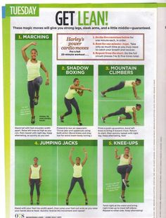 Get Lean Workout (Tuesday - 5wk countdown) - Seventeen Magazine