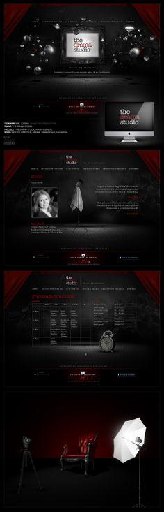 The Drama Studio Flash Website - Designed By Eric Jordan (www.ericjordan.com) #website #design #graphic