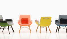 KUL PRICK: Vissa möbler blir man bara glad av, som Hella Jongerius fåtölj East River för Vitra.