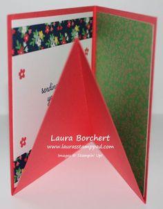 Fold Up Pop Up Box, www.LaurasStampPad.com